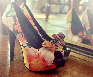 flowered and high heels image