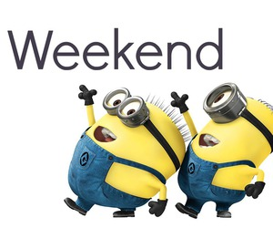 minions and weekend image