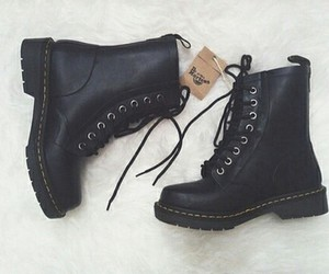 black, shoes, and boots image