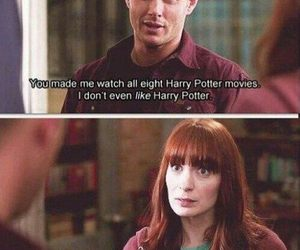 supernatural, harry potter, and dean winchester image