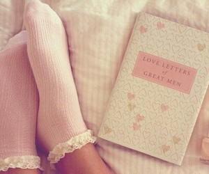 pink, book, and socks image