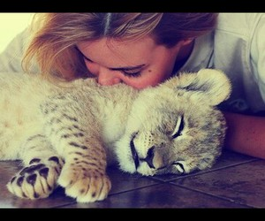 girl, cute, and tiger image