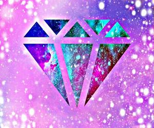 diamond, hippie, and overlays image