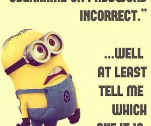 minions, funny, and password image