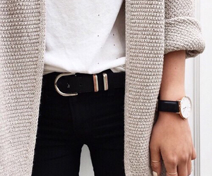 black, cardigan, and style image