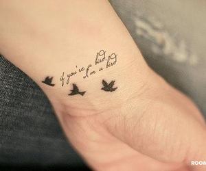 birds, hand, and tatoo image