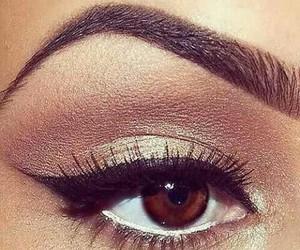 eye, gold, and make-up image