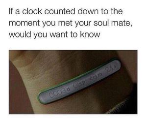 clock, soul mate, and soulmate image