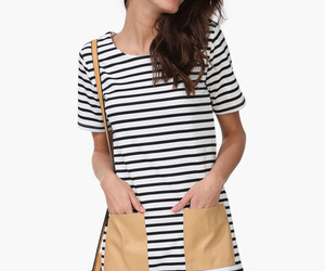 black and white stripes and dresses with pockets image