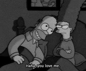 love, simpsons, and homer image
