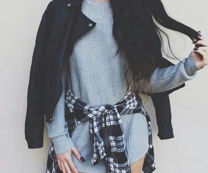 brunette, fashion, and cute image