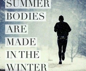 fitness, winter, and summer image