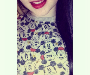happy, lipstick, and mickey image
