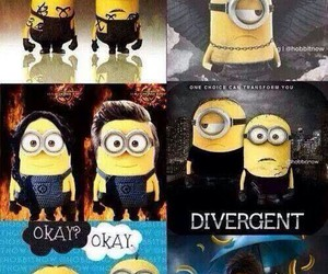 minions, harry potter, and divergent image