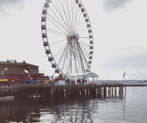ferris wheel, photography, and pier image
