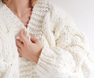 sweater, white, and bulkyknit image