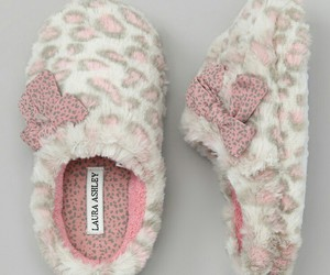 leopard, pink, and slippers image