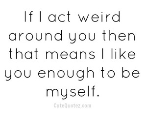 quote, weird, and myself image