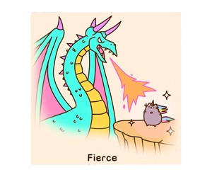 cat, fierce, and dragon image