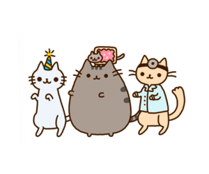 pusheen, nyan cat, and dancing cats image
