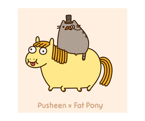 cat, yellow, and pusheen image