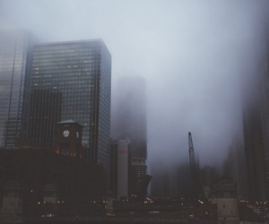 city, grunge, and sky image