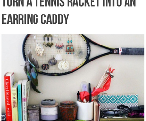 diy, earring, and tennis image