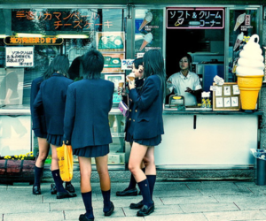 street, friends, and girls image