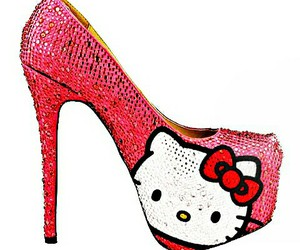 pink, hello kitty, and shoes image