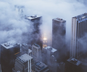 city, fog, and chicago image