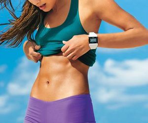 exercise, flat abs, and goals image