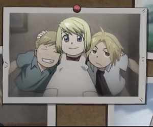 edward elric, winry rockbell, and alphonse elric image