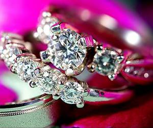 diamond, ring, and rings image
