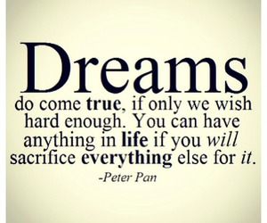 dreams, peter pan, and quotes image