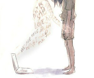 sad, internet, and friends image