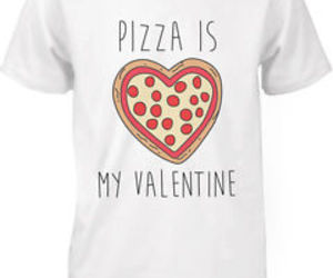 funny, pizza, and tshirt image
