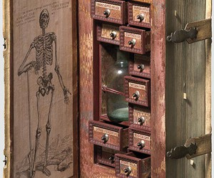 book, poison, and skeleton image
