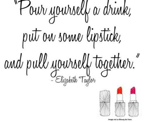 quote, lipstick, and Elizabeth Taylor image