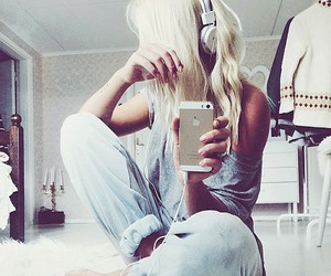 blonde, music, and hair image