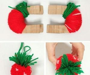 diy, pompom, and fraise image