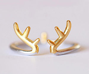 deer, fashion, and ring image