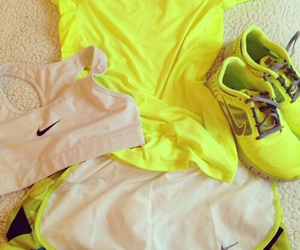 fitness, nike, and neon image