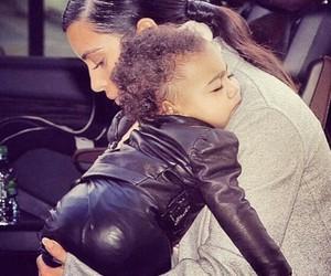 kim kardashian, north west, and baby image