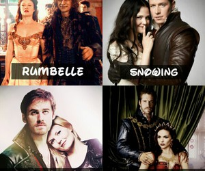 snowing, rumbelle, and captain swan image