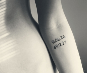 arm, date, and numbers image