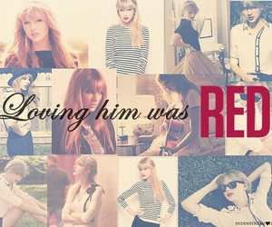 Taylor Swift and loving him was red image