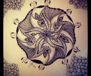 doodles, drawing, and mandala image