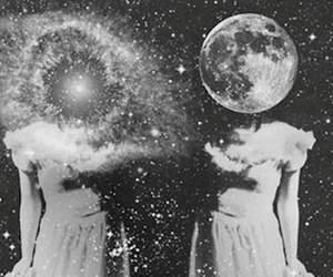 blackandwhite, softgrunge, and galaxies image