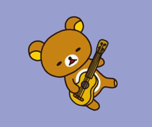kawaii, rilakkuma, and ukulele image