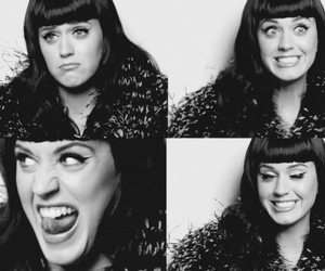 katy perry, black and white, and b&w image